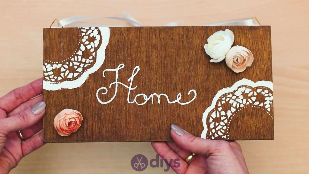 Diy wooden door sign step 9h