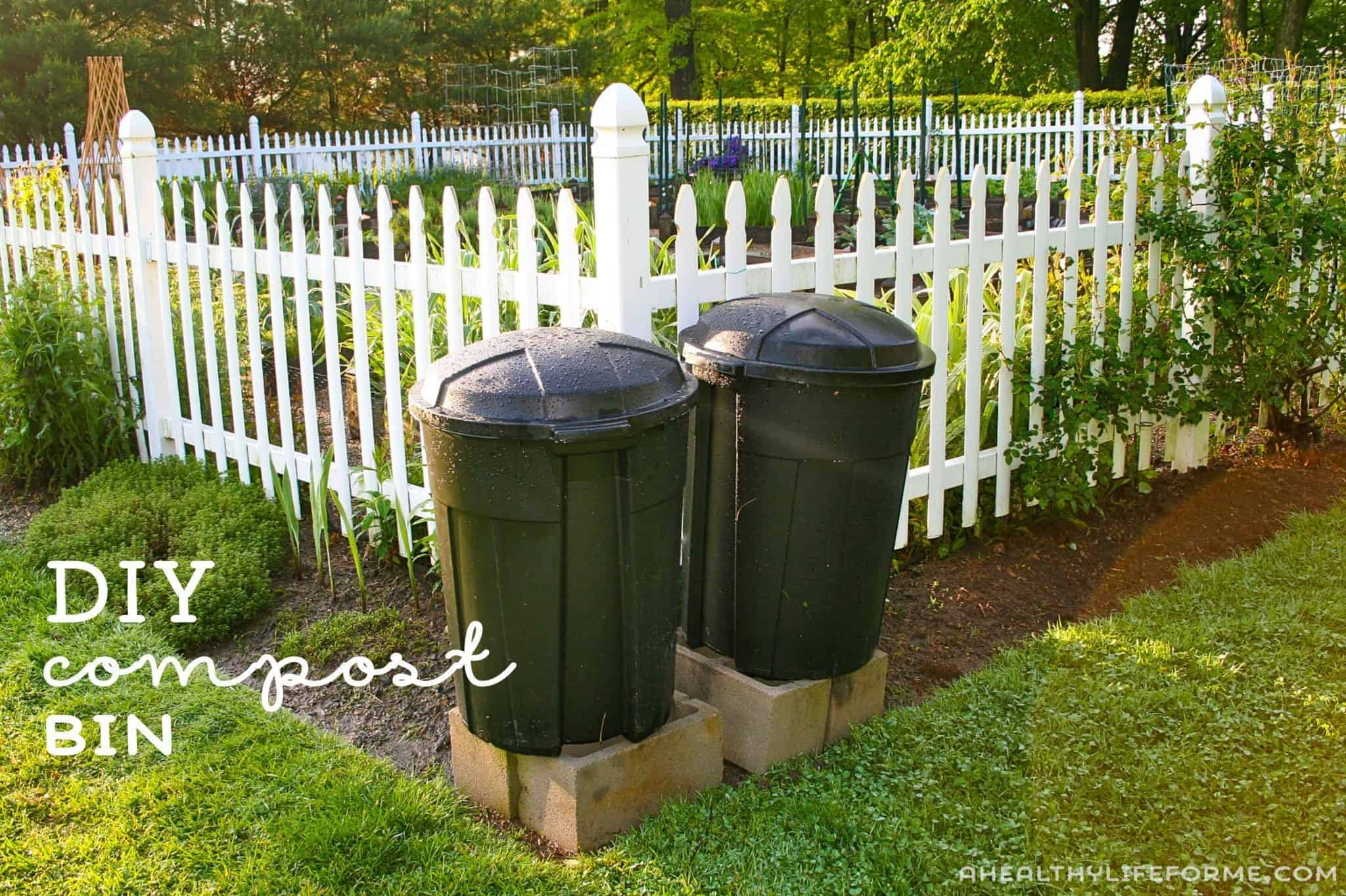 Diy compost bin from a larger classic trash can