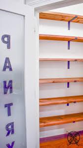 Diy farmhouse inspired pantry shelves
