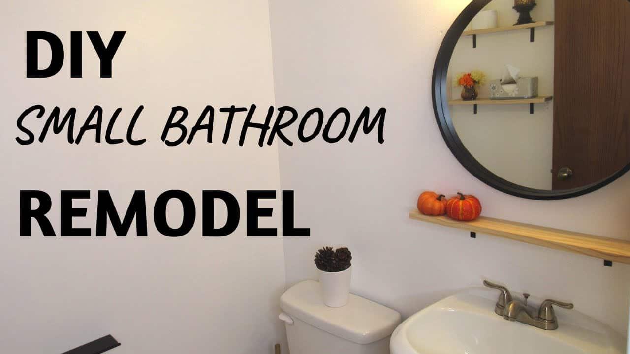 Diy half bathroom makeover