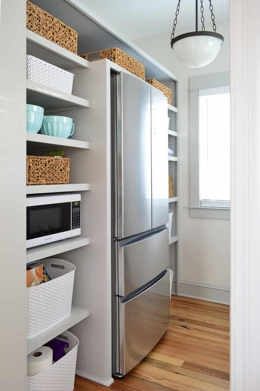 Diy open inset pantry walls