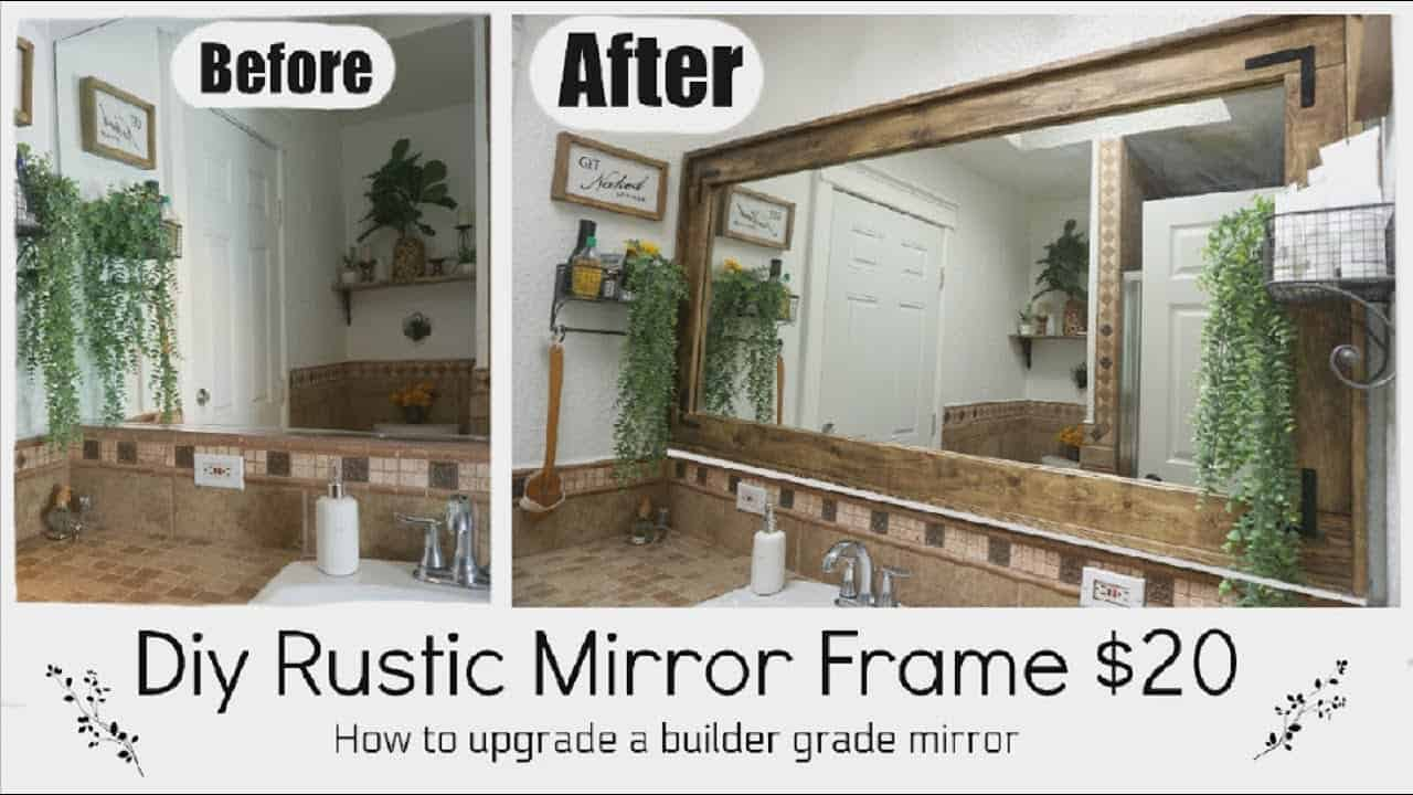 Diy rustic mirror frame for under $20