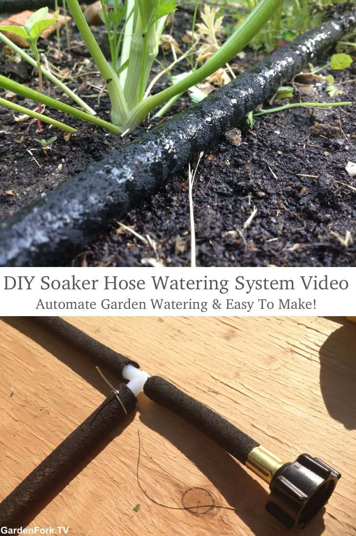 Diy soaker hose watering system