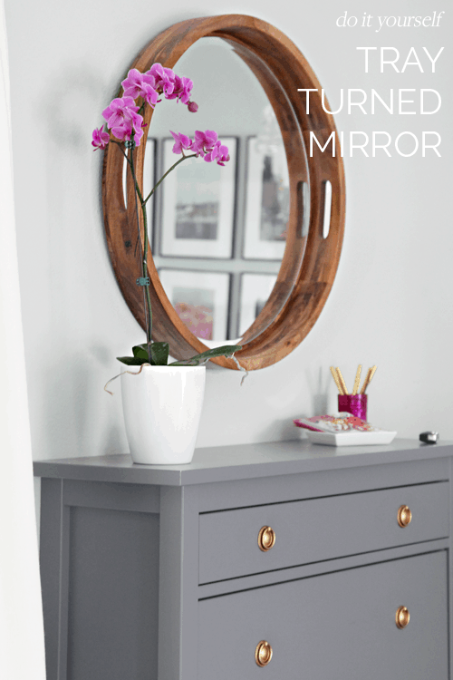 Diy tray turned mirror