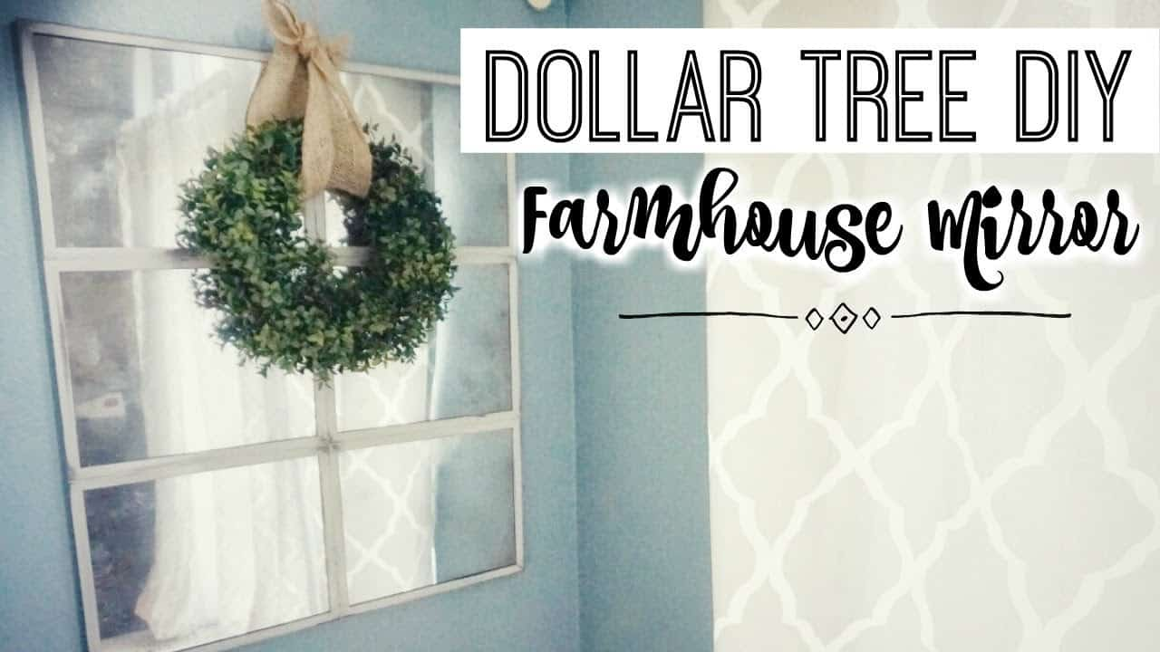 Dollar tree diy farmhouse mirror