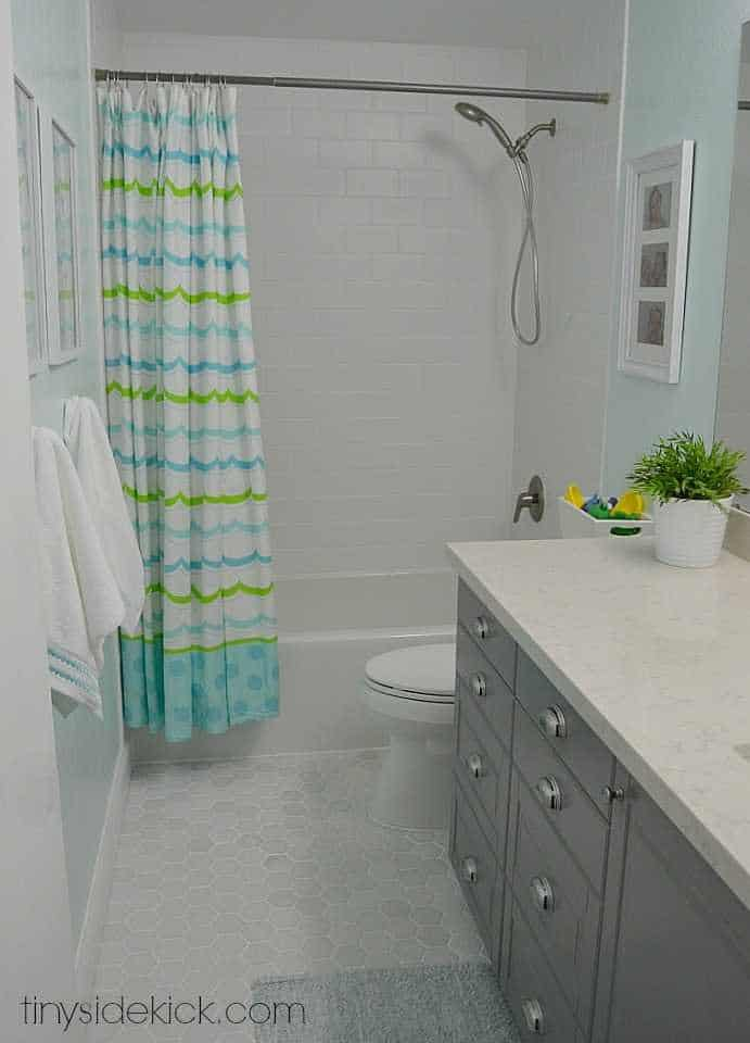 Fresh bathroom makeover and update
