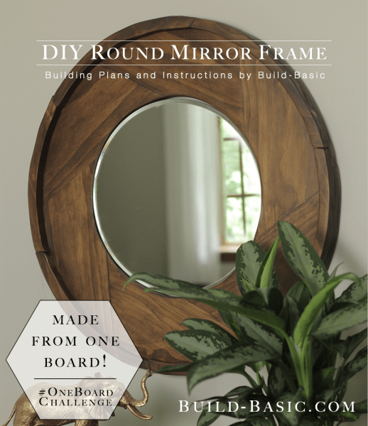 Geomatric fitted rounded wooden mirror