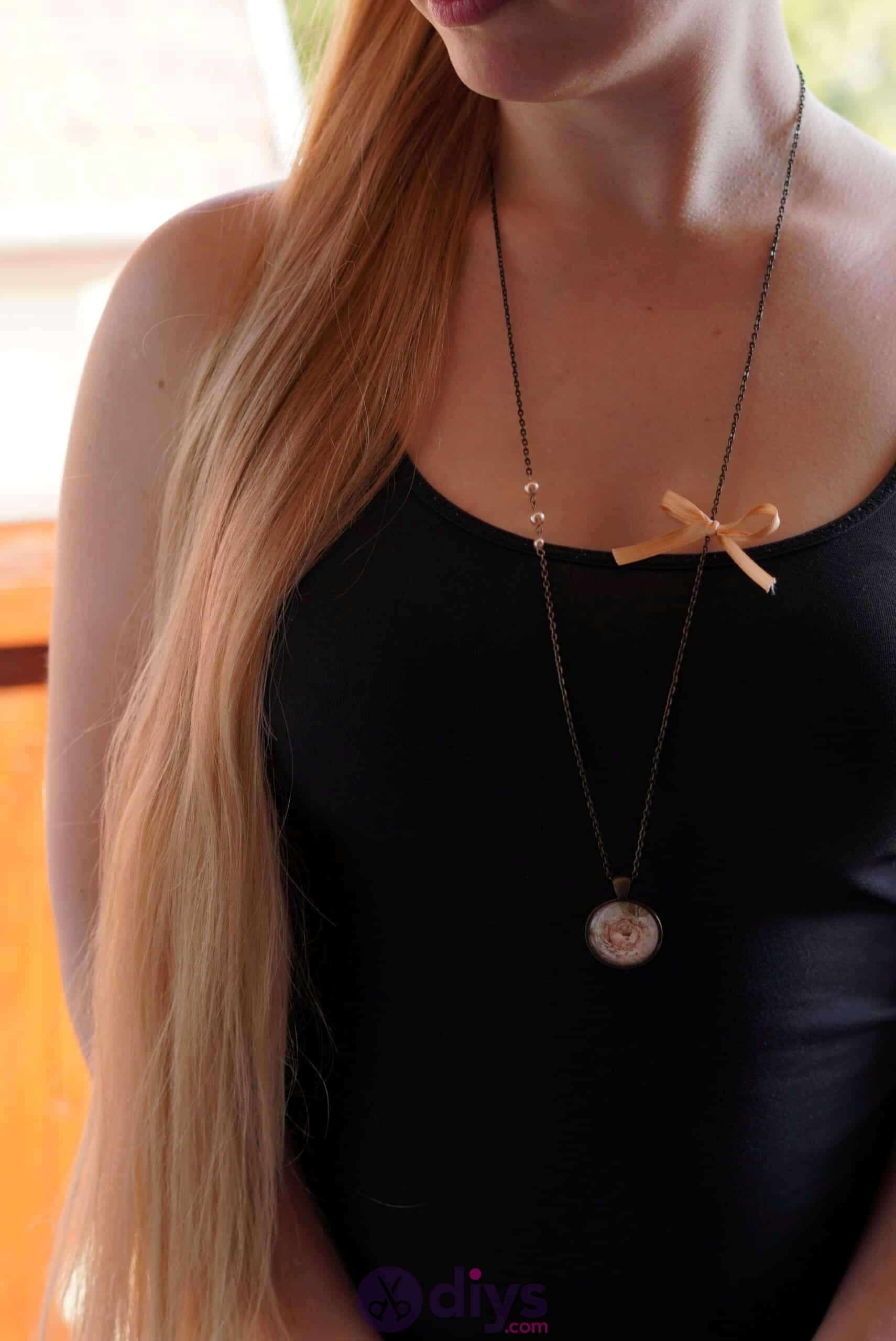 Glass lens necklace