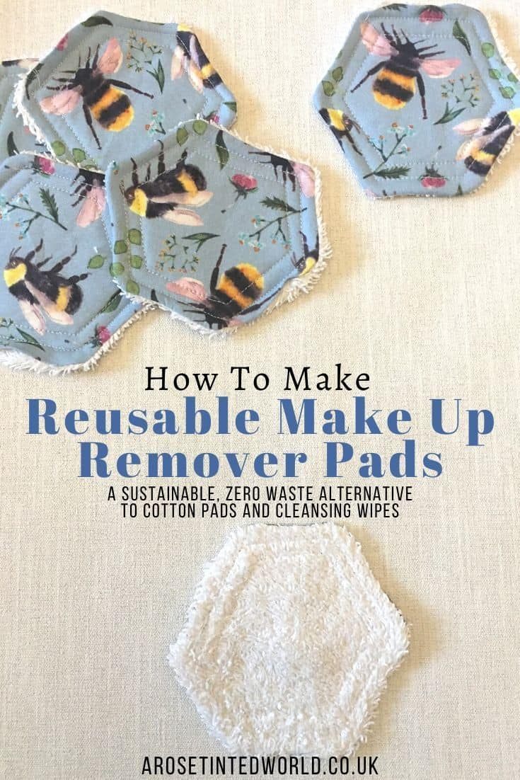 How to make reusable make up remover pads 2