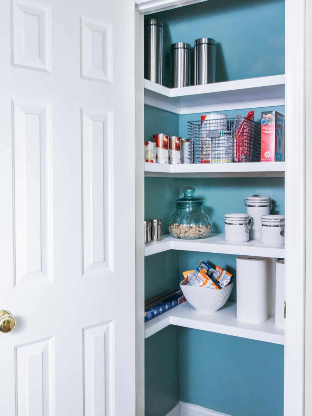 How to replace pantry wire shelving