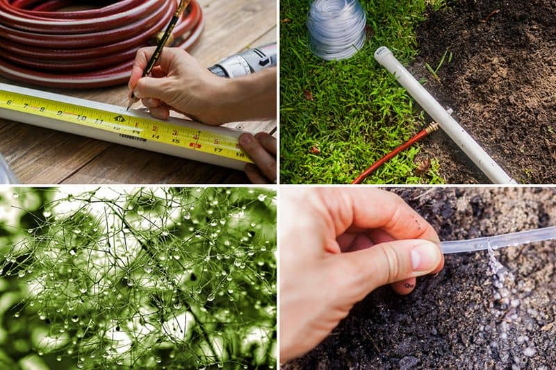 How to set up an inexpensive irrigation system for small gardens