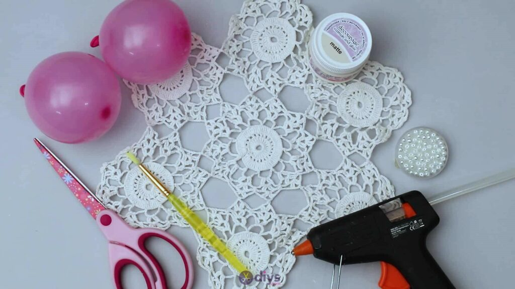 Lace candle holder materials