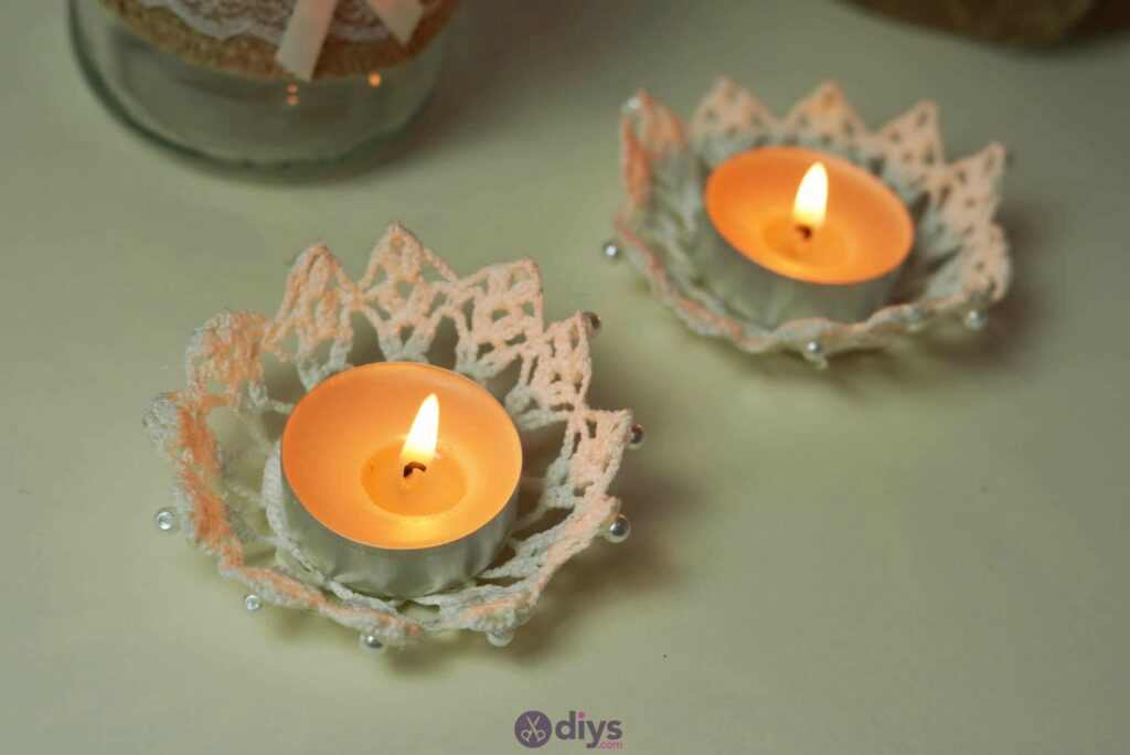 Lace candle holder simple diy