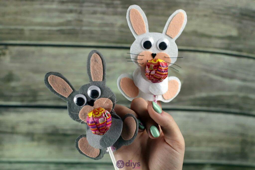 Lollipop holder felt bunny