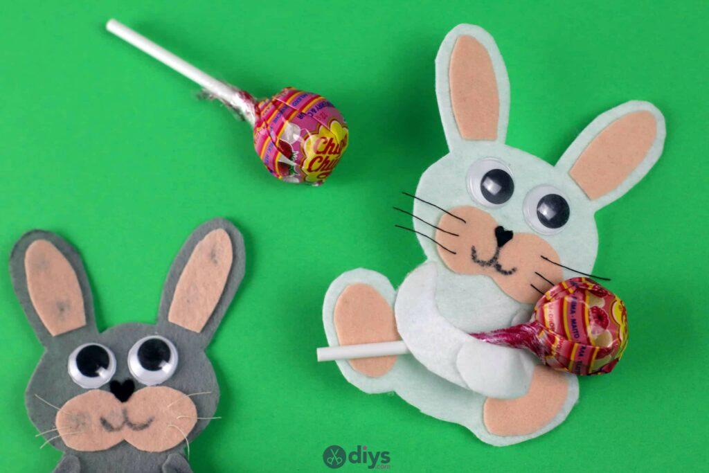Lollipop holder felt bunny for kids