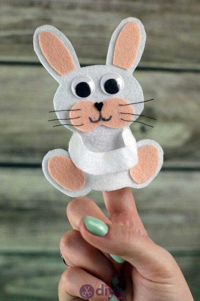 Lollipop holder felt bunny top