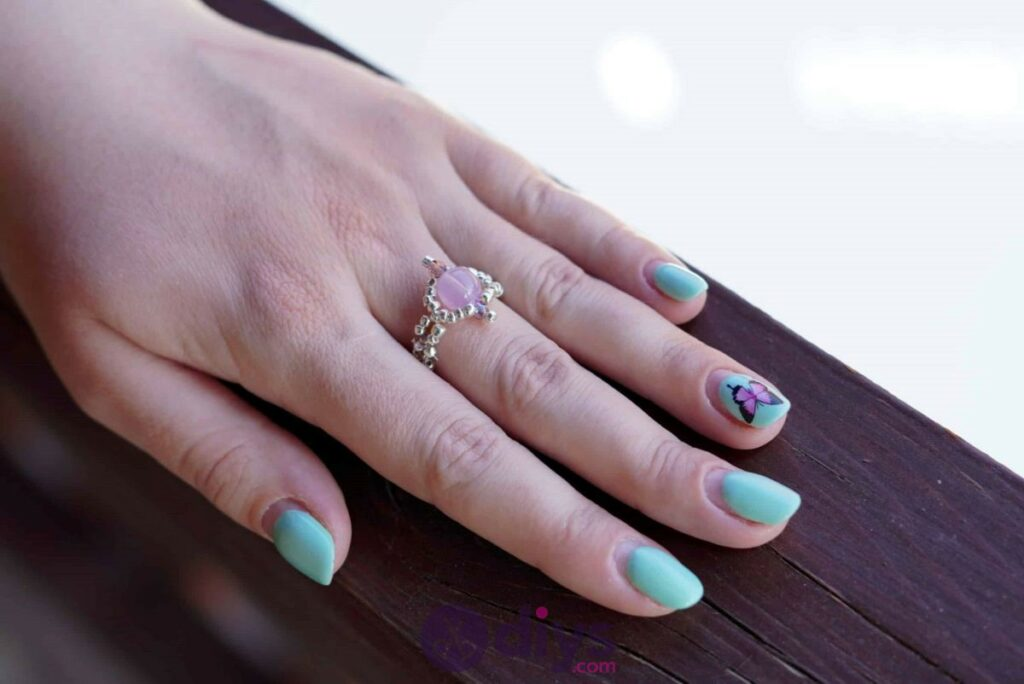 Make your own seed bead ring diy