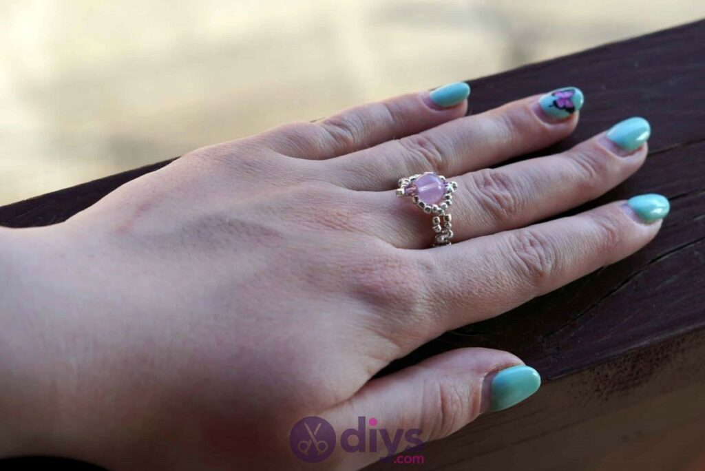 Make your own seed bead ring beautiful project
