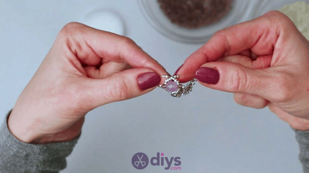 Make your own seed bead ring step 11a