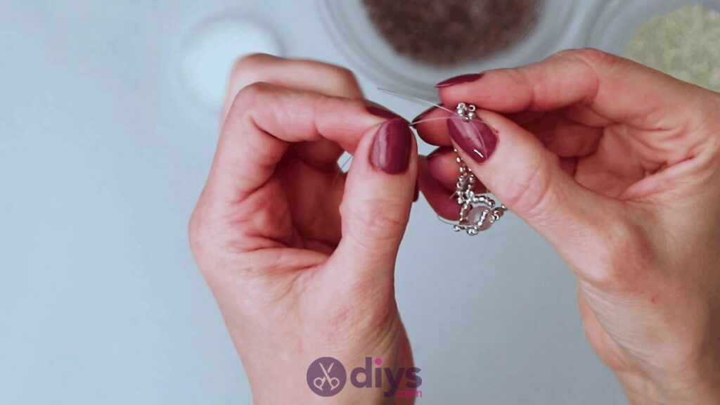 Make your own seed bead ring step 11d