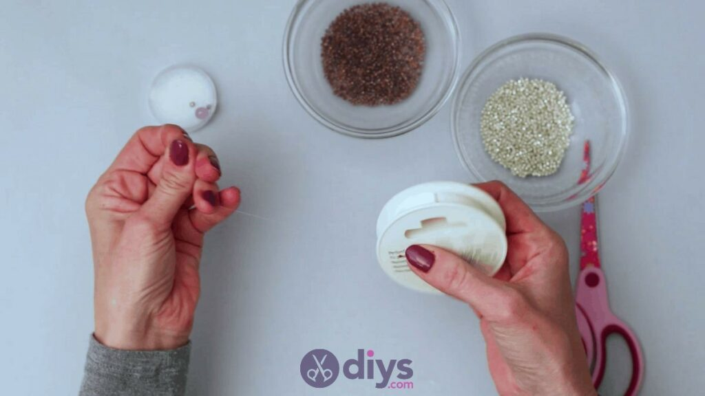 Make your own seed bead ring step 2
