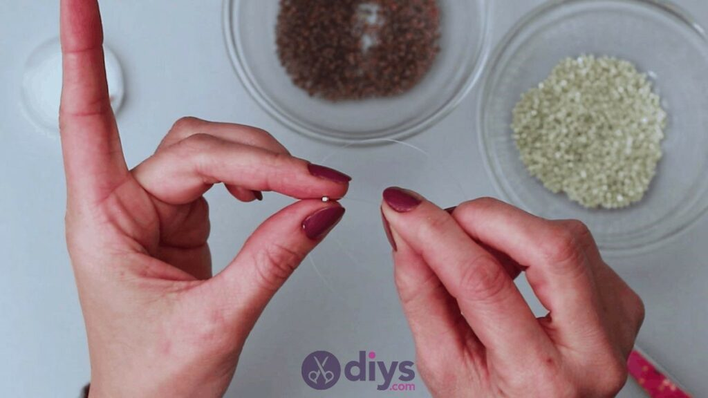 Make your own seed bead ring step 3a