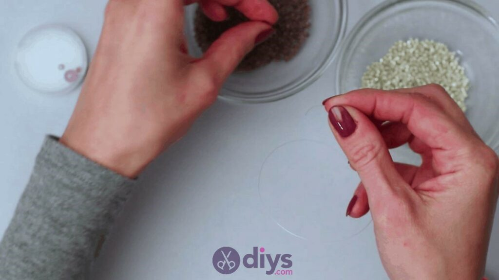 Make your own seed bead ring step 3b