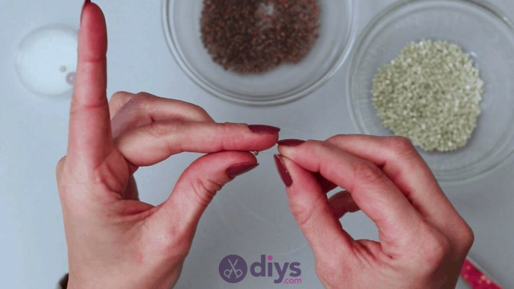 Make your own seed bead ring step 3c
