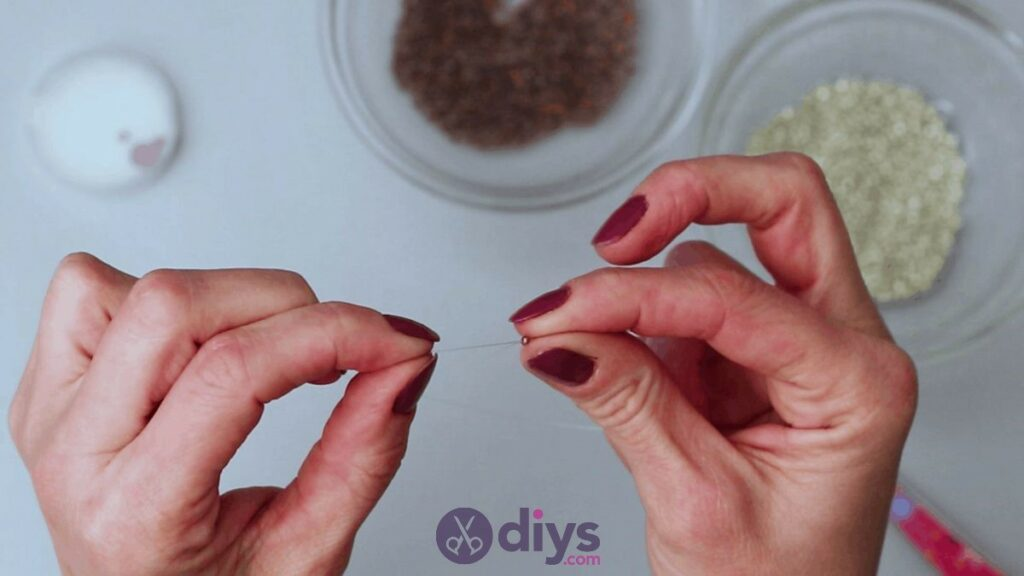 Make your own seed bead ring step 4