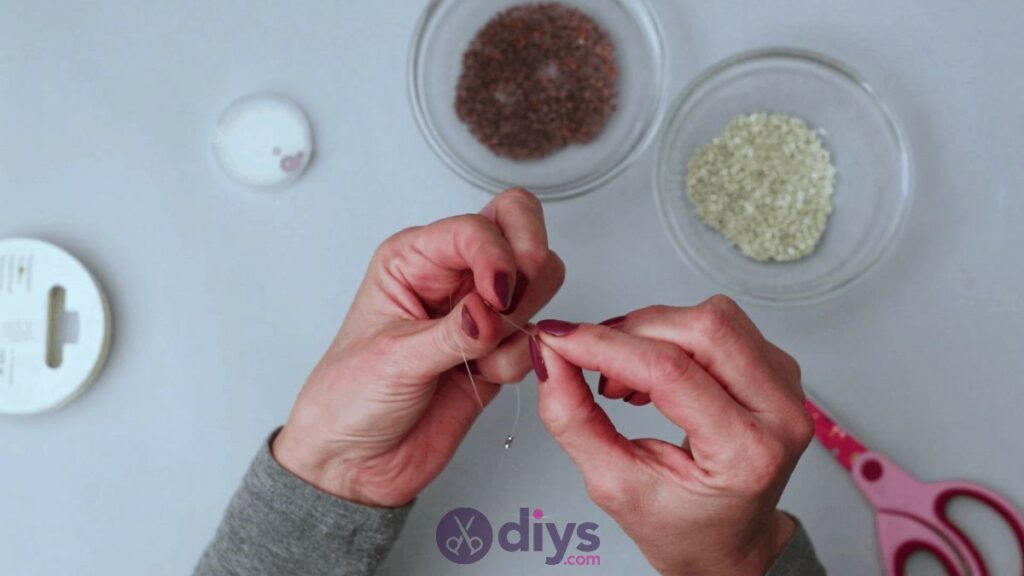 Make your own seed bead ring step 4a
