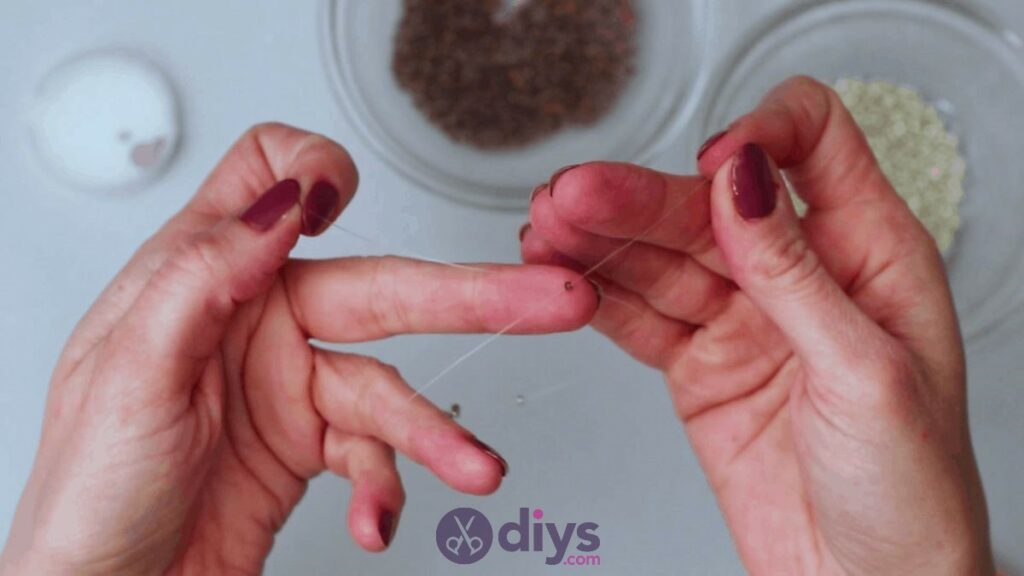 Make your own seed bead ring step 4b