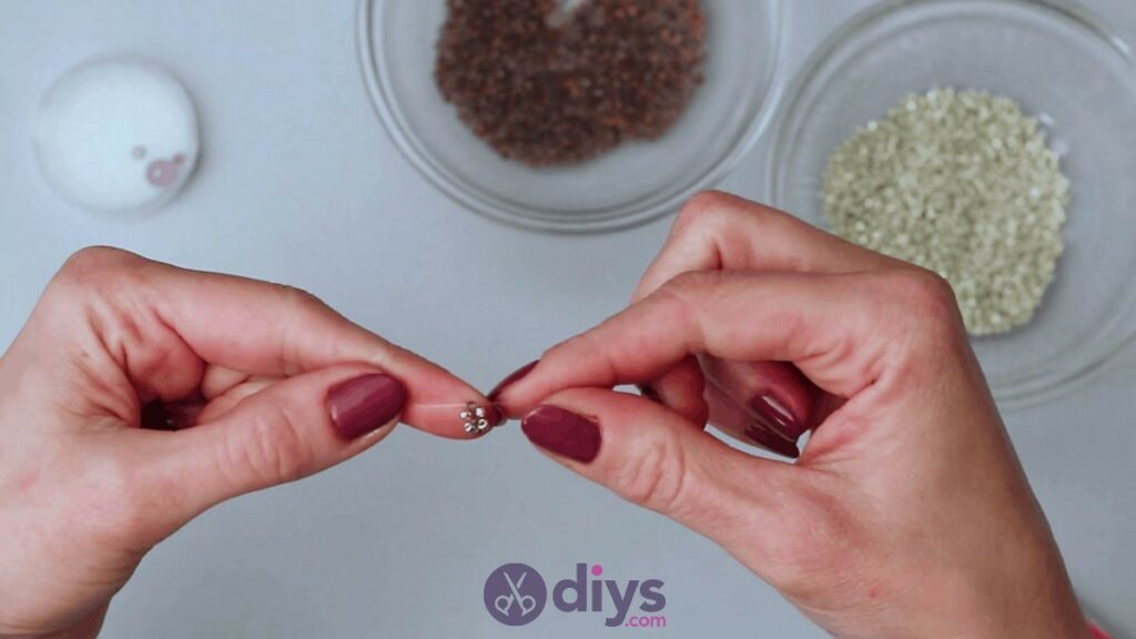 Make your own seed bead ring step 4c