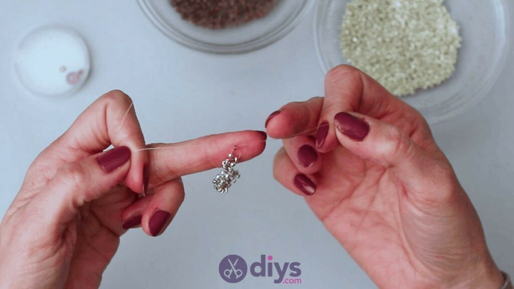 Make your own seed bead ring step 4d
