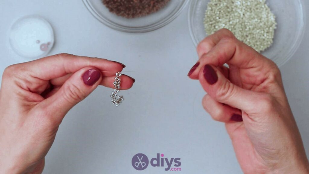 Make your own seed bead ring step 6c
