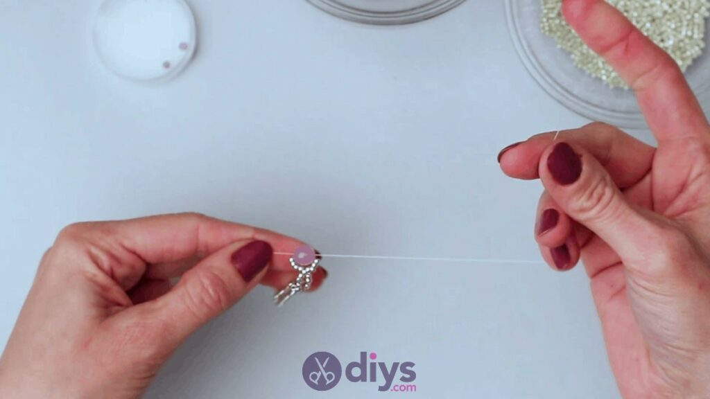 Make your own seed bead ring step 8b