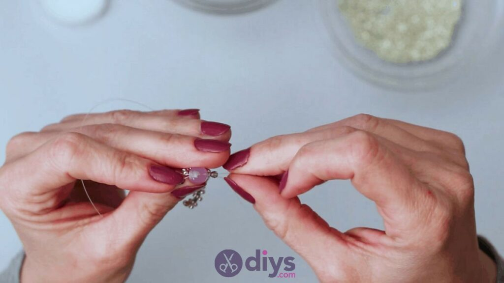 Make your own seed bead ring step 9d