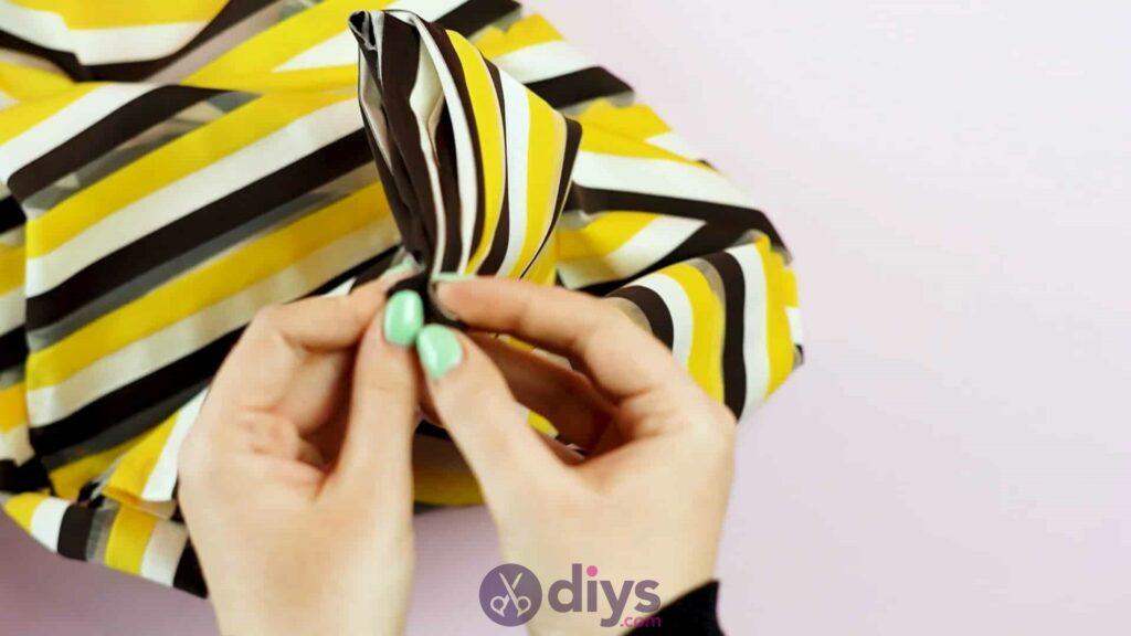 No sew head wrap step 2e