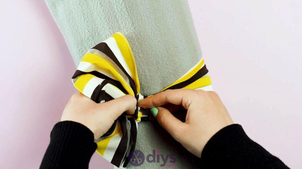 No sew head wrap step 8e