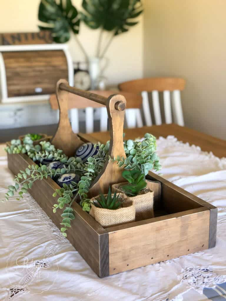 Old fashioned tool tray planter