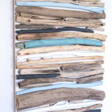 Panted driftwood wall art