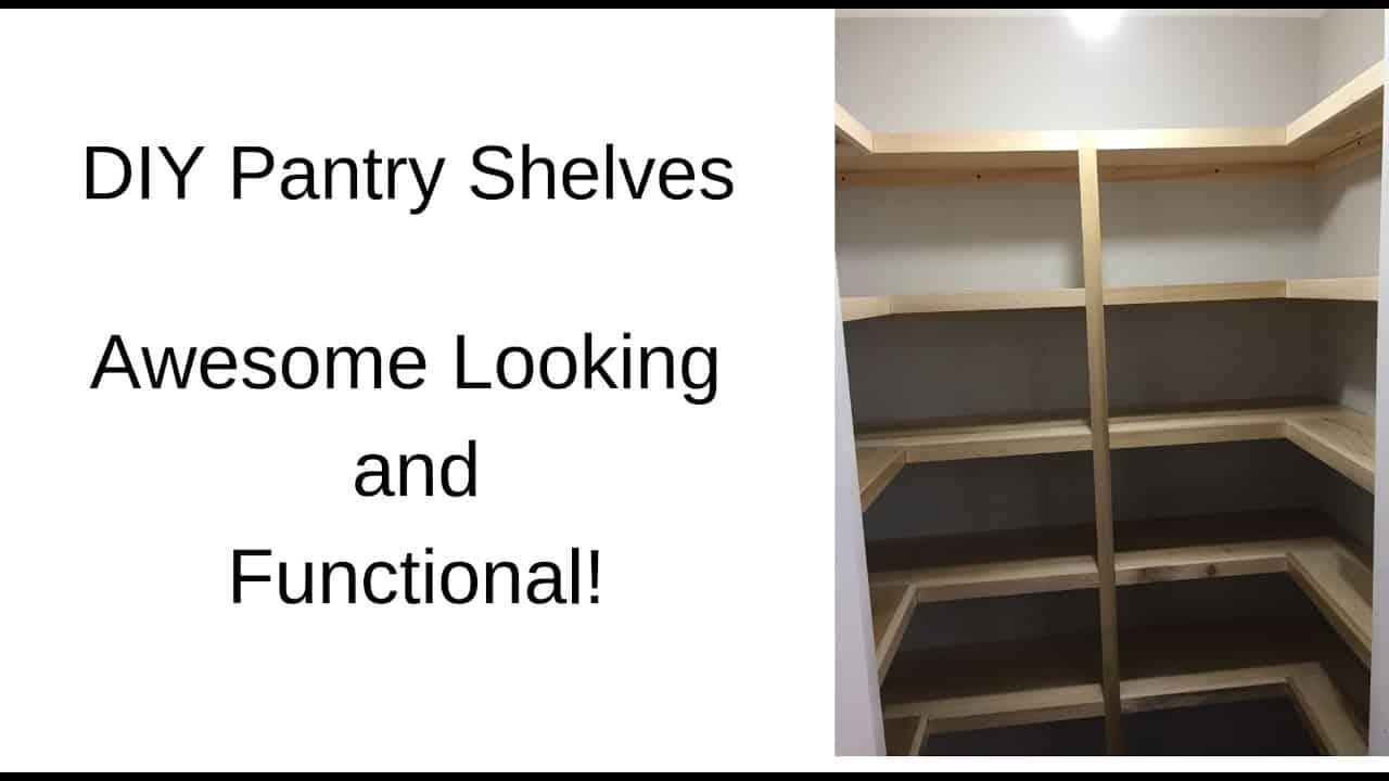 Poplar wood diy pantry shelves