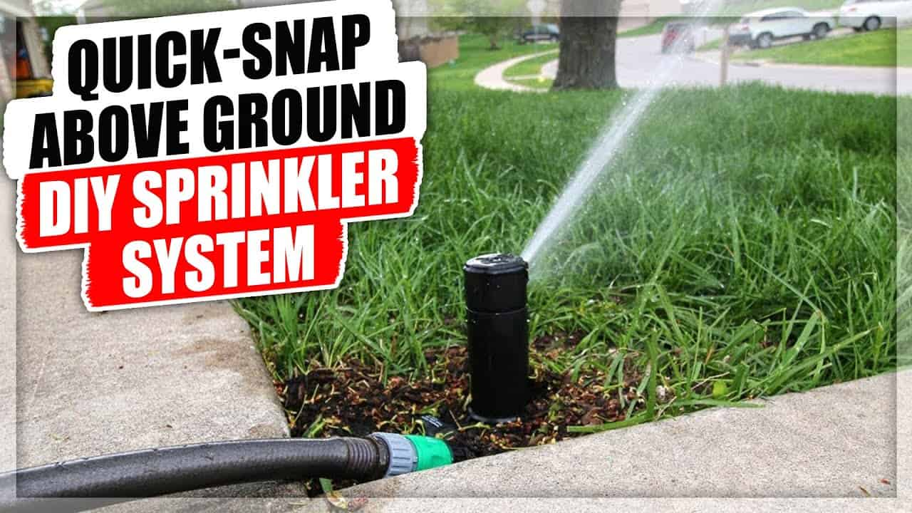 Quick snap, above ground diy sprinkler system