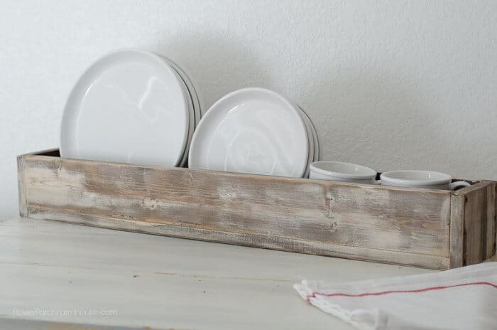 Reclaimed wooden farmhouse dish tray