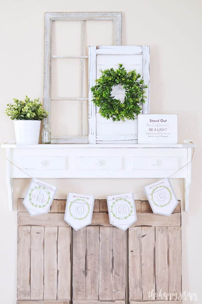 Repurposed outdoor fireplace mantel