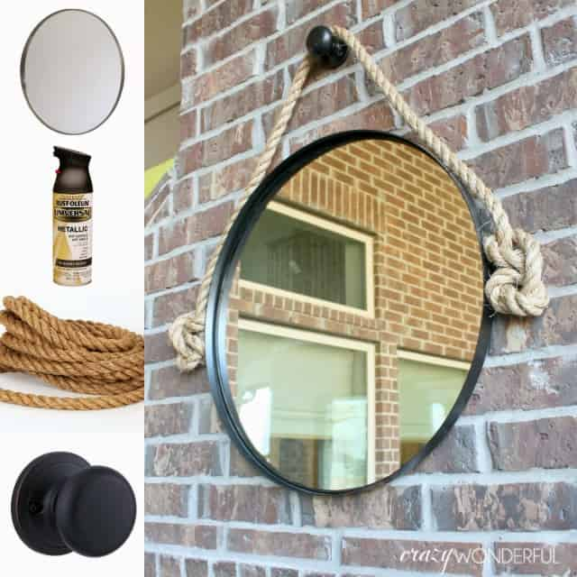 Rounded rope mirror