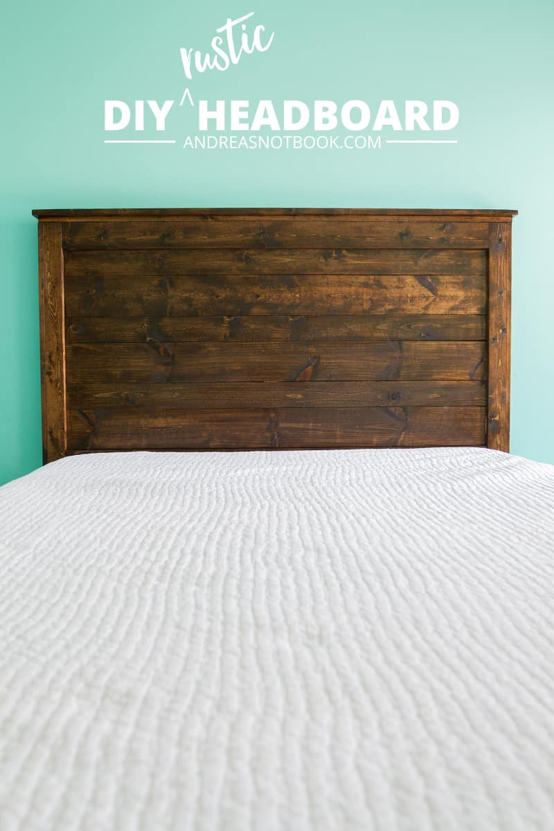 Rustic stained wood headboard