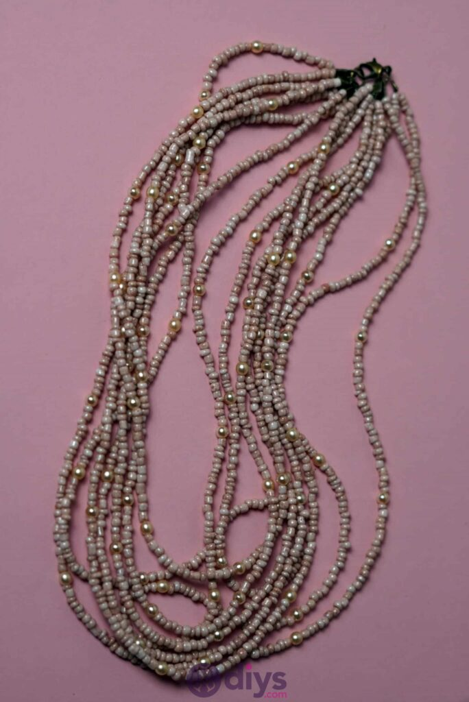 Seed bead multi strand necklace
