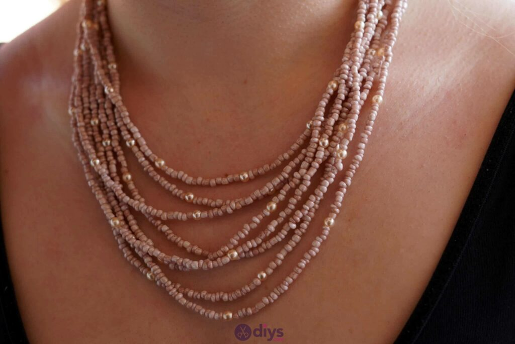 Seed bead multi strand necklace diy project