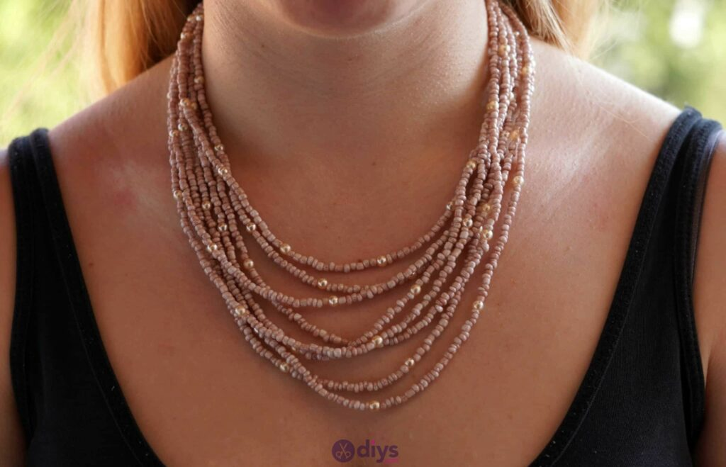 Seed bead multi strand necklace project
