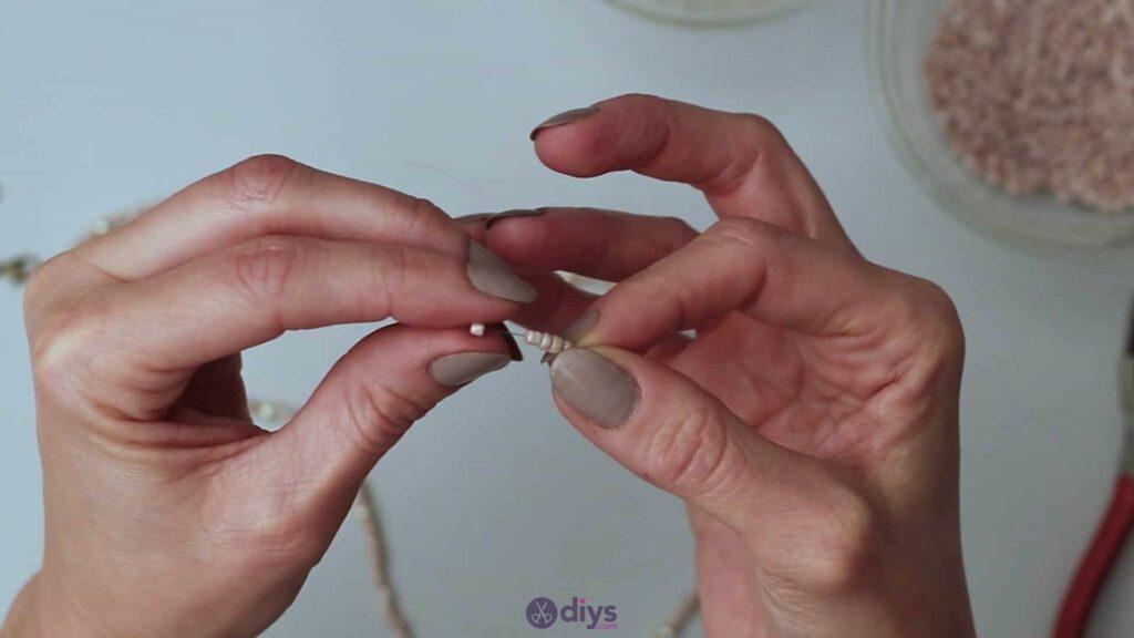 Seed bead multi strand necklace step 3e